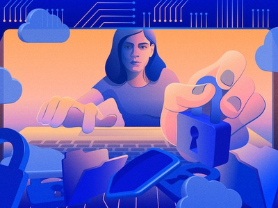 IT Fortress | IBM cyber security washington post ibm artificial intelligence editorial illustration illustration adobe illustrator