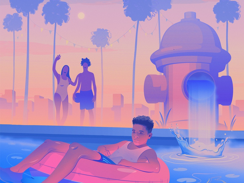 Summer in the City summer childrens art city magical realism illustration editorial illustration adobe illustrator
