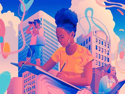 Welcome to Art School | RISD students art school education poster art college risd magical realism illustration editorial illustration adobe illustrator