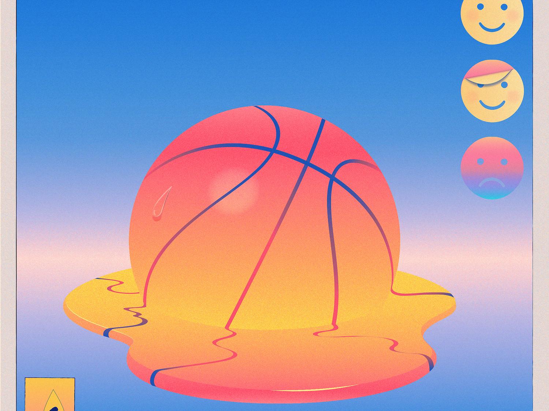 Emotions basketball sports mental health emotions magical realism editorial illustration adobe illustrator