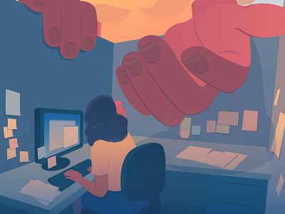 Breaking Free  Pt.I  | Good Company editorial surealism working cubicle office editorial illustration adobe illustrator
