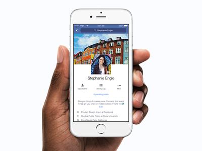 New Facebook Profile ios profile facebook