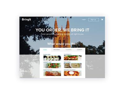 BringIt for web duke students desktop food delivery