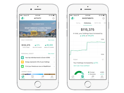 Wealthfront redesign wealth front investing money ios tech finance