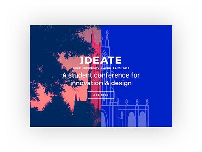 Ideate design conference blue school duke duotone color design