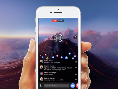 Facebook Live 360 desigh ux video live facebook