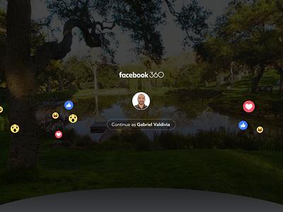 Facebook 360 for Gear VR onboarding ux design vr facebook