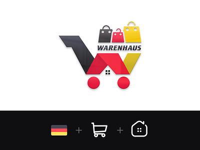 WARENHAUS germany home shop warenhaus georgia design branding mylogo vector logo illustration