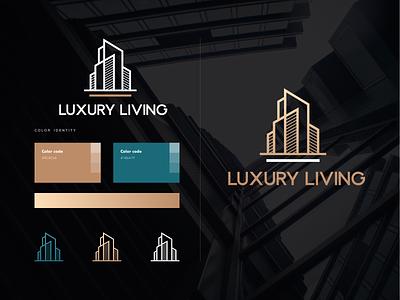 LUXURY LIVING living luxury georgia design branding mylogo vector logo illustration luxury living