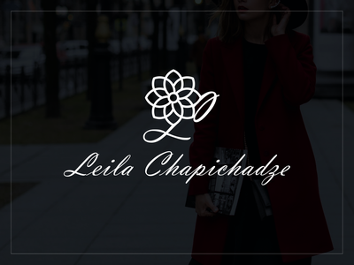 Lela Chapichadze & Logo georgia design branding mylogo vector logo illustration lela chapichadze fashion logo fashion lela chapichadze  logo