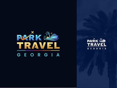 Park Travel Georgia park travel georgia travel hotel batumi georgia design branding mylogo vector logo illustration