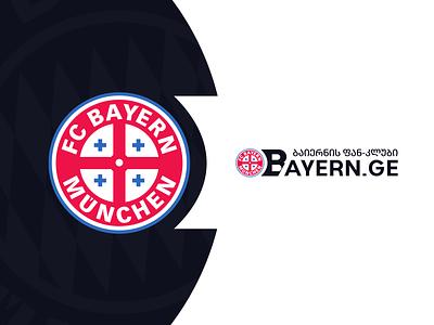 BAYERN football sport germany fcbayern bayern.ge bayern georgia design branding mylogo vector logo illustration