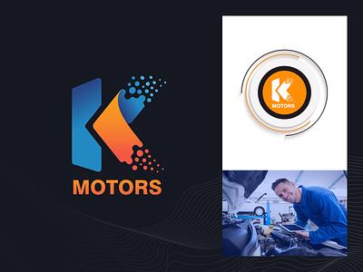 K-MOTORS service parts auto tbilisi motors kmotors engine georgia design branding mylogo vector logo illustration
