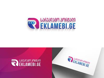 REKLAMEBI.GE & LOGO reklamebi.ge reklama reklmebi georgia design mylogo branding vector logo illustration სარეკლამო პორტალი
