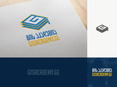 Gisacademy figma georgia design mylogo branding vector logo illustration academy აკადემია გის აკადემია gisacademy