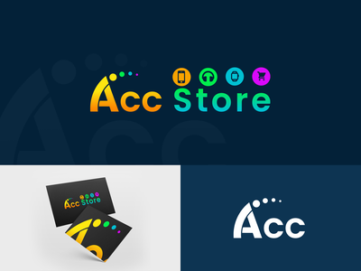 AccStore • ექსთორი store acc ონლაინ მაღაზია accstore georgia design mylogo branding vector logo illustration