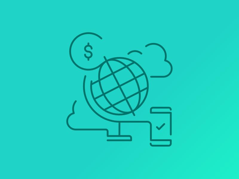 Global Sending azimo banking currency coin phone money sending global globe
