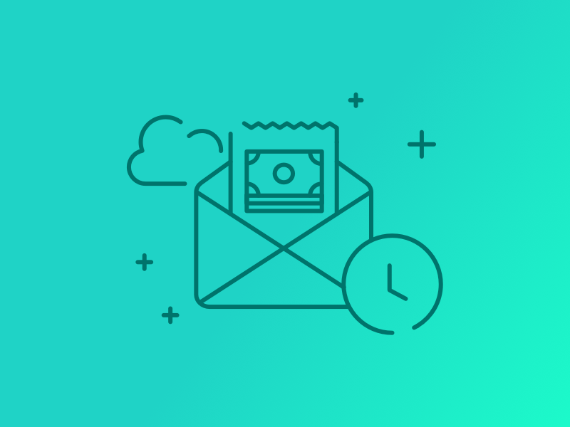 Promocode money azimo banking currency cloud time message envelope promocode