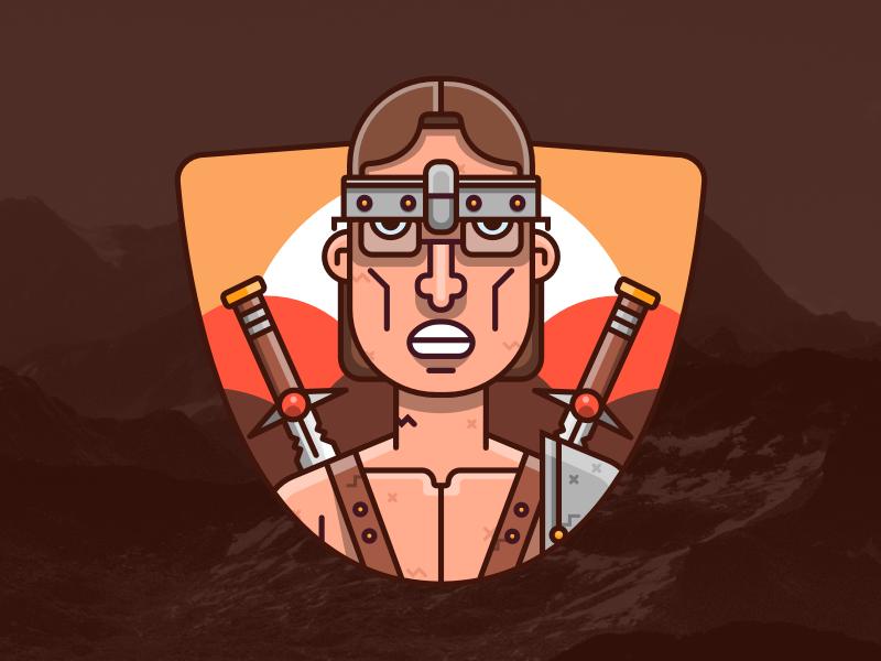 The Barbarian! gamer social profile warrior barbarian streamer twitch