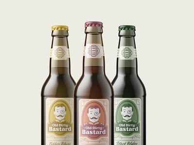 Old Dirty Bastard logotype branding and identity craft beer label design branding design identity design typography graphic design illustration branding