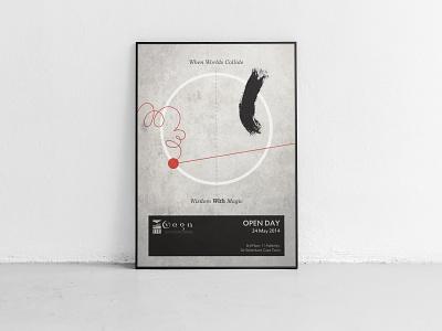 When Worlds Collide design flyer design poster design typography illustration graphic design