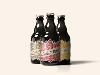 I Salute You - Craft Beer typography illustration craft beer label design branding packaging design graphic design