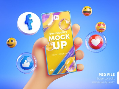 Cute Hand Holding Phone product mockup product psd wrapper scene psd ui illustration photoshop identity freebie free design branding graphic design icons around facebook cute hand mockup phone holding
