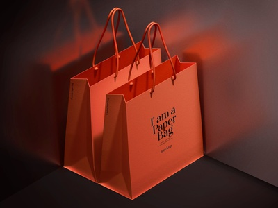 Paper Bag Mockup product store branding store print store realistic gift graphic design idenity illustration mockup photoshop identity freebie free design branding bag mockups papper mockups papper bag papper