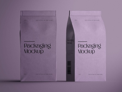 Paper Packaging Mockup doypack food flour container pouch graphic design product paper product illustration photoshop free identity freebie design branding paper packaging packaging mockup mockup packaging paper