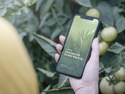 Phone Mockup Gardening Scenes website webpage web ux ui presentation theme macbook mac laptop display simple clean realistic phone mockup smartphone device mockup abstract phone