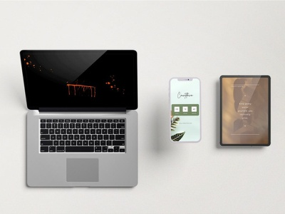 Responsive Screen Mockups web phone branding design ux multidevices apple interface website ui smartphone tablet device showcase screen responsive display presentation mockup application