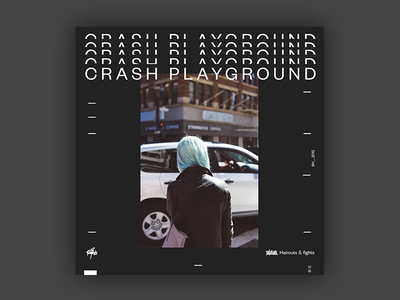 Crash Playground - Haircuts & Fights EP  Cover brutalist design