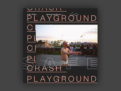 Crash Playground - Safe EP Cover brutalist design