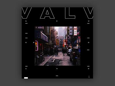 Valv - New Ground EP Cover brutalist design