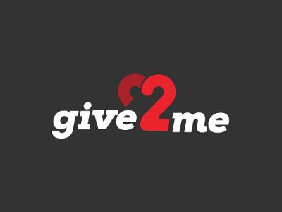Give2me app logo design icon branding