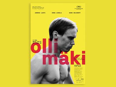 Olli mäki typography brutalist design poster