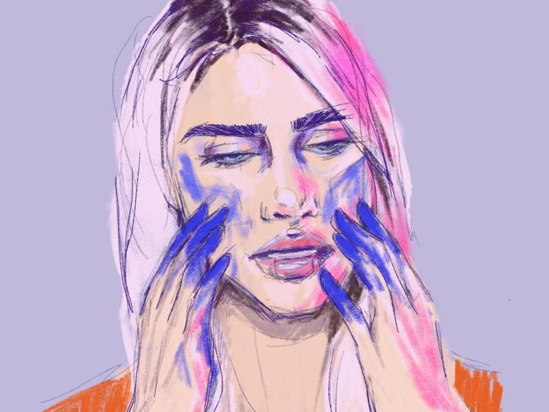Portrait Sketch digital illustration procreate drawing portrait illustration