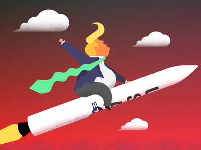 Minute Man v.2 political illustration usa trump nuclear missile
