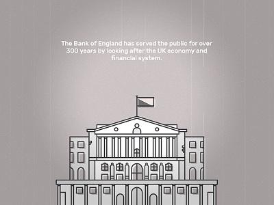 300 Years grey vintage noise old money banking bank website design fun flat illustration