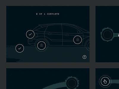 One-Four-Nine Interactions swipe progress websockets interaction game illustration mobile