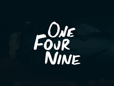 One-Four-Nine Logo typography type logo hand drawn illustration noir svg brand