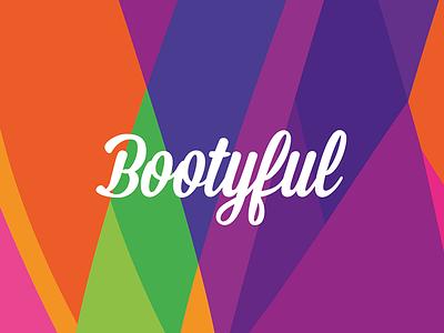 Bootyful pattern branding typography logo type