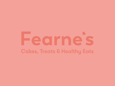 Fearnes cute soft heart apostrophe type brand logo