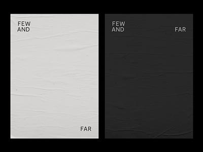 Few and Far logo brand agency