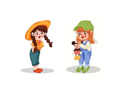 Illustration-Character ui branding app typography illustration design