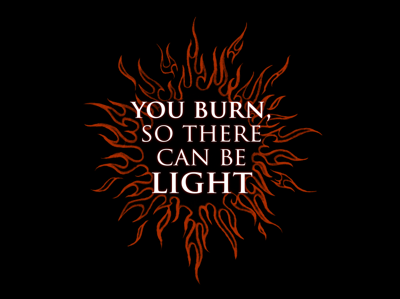 The Sun | Artwork tattoo art tattoo you phrase quote light burn orange flames flame design illustration typography sun
