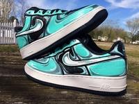 Aqua Nike Air Force 1 Premium 07 Sneaker Custom