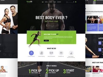 Hivefit fitness website best body exercise workout body building webpage