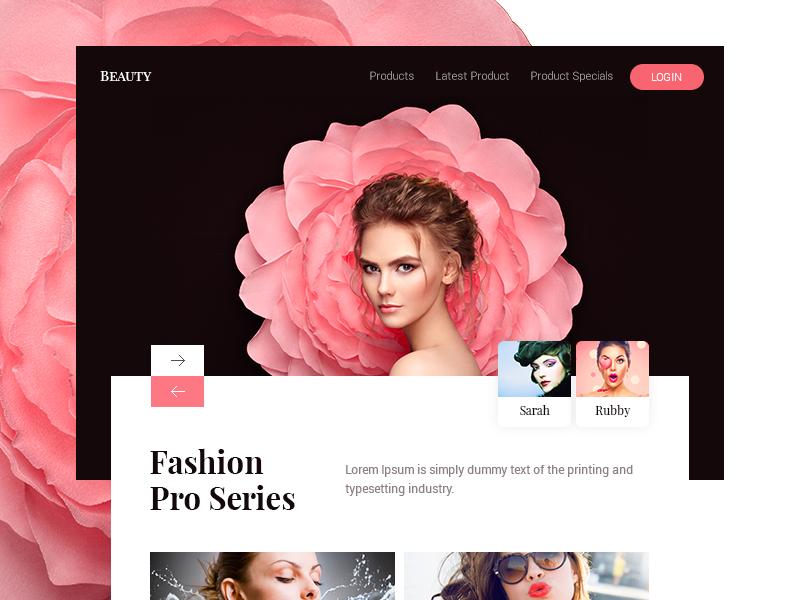 Beauty Pro fashion beautyful girls beauty about slider minimal ux ui web design web app web page