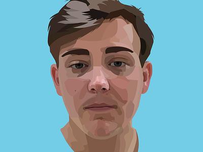 Illustrative Self Portrait face pixels 2d art business color still life human graphic design vector self portrait brand branding design illustration